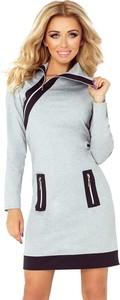 Sukienka NUMOCO z długim rękawem w stylu casual mini