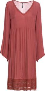 Sukienka bonprix RAINBOW z długim rękawem midi w stylu casual