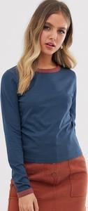 T-shirt Brave Soul w stylu casual z okrągłym dekoltem z długim rękawem