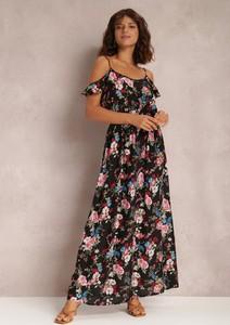 Sukienka Renee trapezowa maxi z dekoltem w kształcie litery v