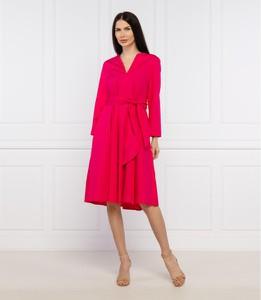 Sukienka Max & Co. z długim rękawem trapezowa z dekoltem w kształcie litery v