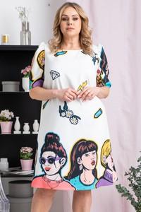 Sukienka KARKO z okrągłym dekoltem