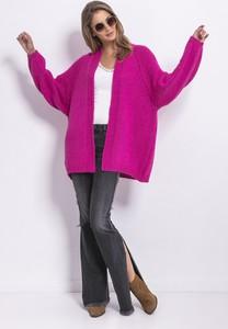 Różowy sweter Fobya z kaszmiru w stylu casual