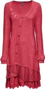 Sukienka bonprix RAINBOW z okrągłym dekoltem w stylu casual midi