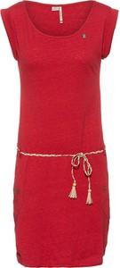 Sukienka Ragwear z okrągłym dekoltem z bawełny