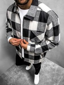 Koszula ozonee.pl w stylu casual z klasycznym kołnierzykiem z długim rękawem