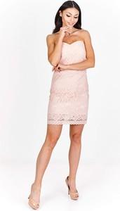 Różowa sukienka producent niezdefiniowany mini