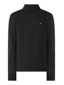 Czarny sweter Calvin Klein z golfem z bawełny