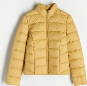 Żółta kurtka Reserved bez kaptura w stylu casual
