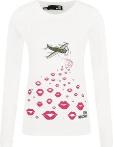 Bluzka Love Moschino z okrągłym dekoltem