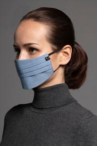 MASKKA 1575 Bawełniana maska Canvas Niebieski & Błękitny Bawełna 100%