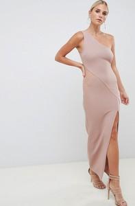 Różowa sukienka Asos Design maxi bez rękawów