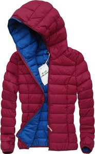 Czerwone kurtki damskie z poliestru Libland, kolekcja wiosna