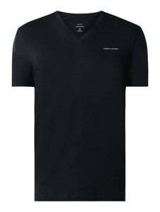 Granatowy t-shirt Armani Exchange z nadrukiem