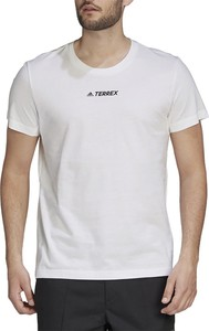 T-shirt Adidas z krótkim rękawem z nadrukiem z dzianiny