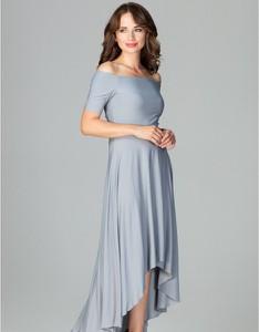 Sukienka LENITIF maxi z długim rękawem