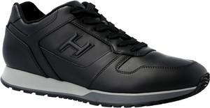 Czarne buty sportowe Hogan sznurowane