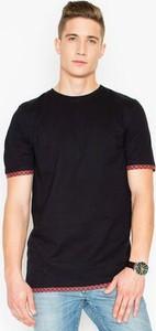 Czarny t-shirt VISENT z krótkim rękawem