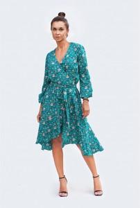 Sukienka Fenderr koszulowa z długim rękawem midi