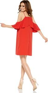 Czerwona sukienka Lemoniade midi hiszpanka