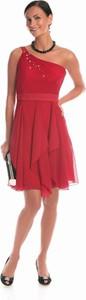 Czerwona sukienka Fokus bez rękawów w stylu boho midi