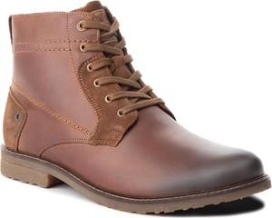 Brązowe buty zimowe Lasocki For Men z zamszu