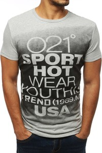 T-shirt Dstreet z tkaniny z nadrukiem