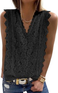 Czarna bluzka Cikelly z dekoltem w kształcie litery v