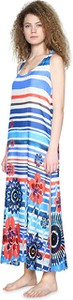 Sukienka Desigual bez rękawów z okrągłym dekoltem maxi