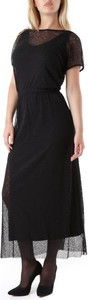 Sukienka Olivia Hops z dekoltem w łódkę z krótkim rękawem maxi