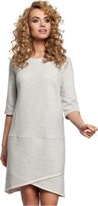Sukienka MOE z bawełny w stylu casual z długim rękawem