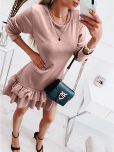 Sukienka magmac.pl w stylu casual mini z okrągłym dekoltem