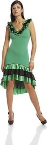Zielona sukienka Fokus z tkaniny