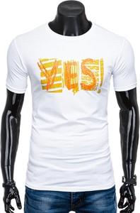 T-shirt Edoti z nadrukiem