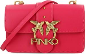 Czerwona torebka Pinko ze skóry mała