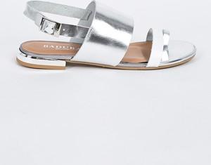 Sandały Badura ze skóry z klamrami
