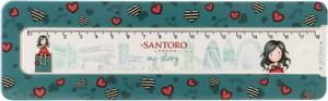 Santoro piórnik plastikowy z linijką Gorjuss My Story