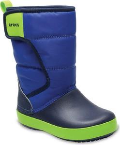 Granatowe buty dziecięce zimowe Crocs dla chłopców