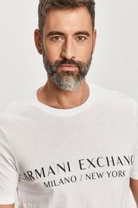T-shirt Armani Exchange z krótkim rękawem w młodzieżowym stylu z bawełny