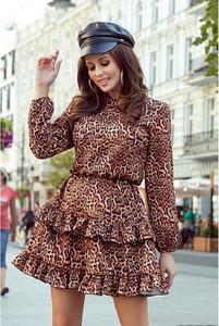 Brązowa sukienka NUMOCO w stylu casual