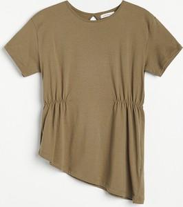 Bluzka Reserved z krótkim rękawem w stylu casual z okrągłym dekoltem