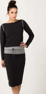Bluza Tessita z dresówki krótka w młodzieżowym stylu