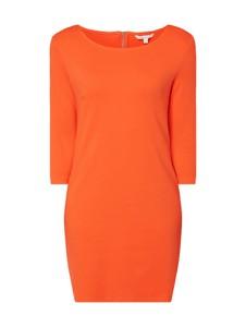 Pomarańczowa sukienka Tom Tailor Denim mini z dżerseju z długim rękawem