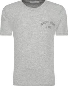 Koszulka dziecięca Calvin Klein z jeansu z krótkim rękawem