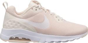 Różowe buty sportowe Nike sznurowane z płaską podeszwą motion