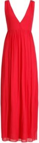 Czerwona sukienka Patrizia Pepe maxi bez rękawów z dekoltem w kształcie litery v