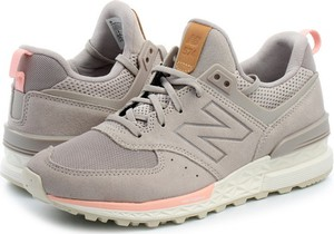 Buty sportowe New Balance sznurowane z płaską podeszwą w sportowym stylu