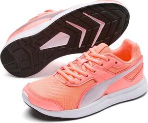 Pomarańczowe buty sportowe Puma w stylu klasycznym z płaską podeszwą sznurowane