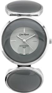 ZEGAREK DAMSKI GINO ROSSI - 8449B (zg513b) silver/gray + BOX - Srebrny || Szary