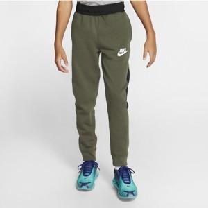 Zielone spodnie dziecięce Nike dla chłopców